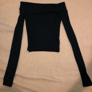 Pacsun Off the shoulder black top